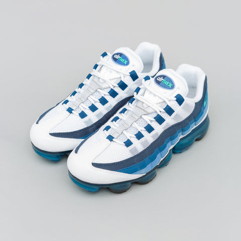 Nike Air Vapormax 95 in White/Blue - Notre