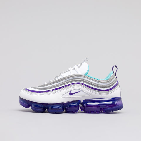 Nike Air Vapormax 97 in White/Aqua/Purple - Notre
