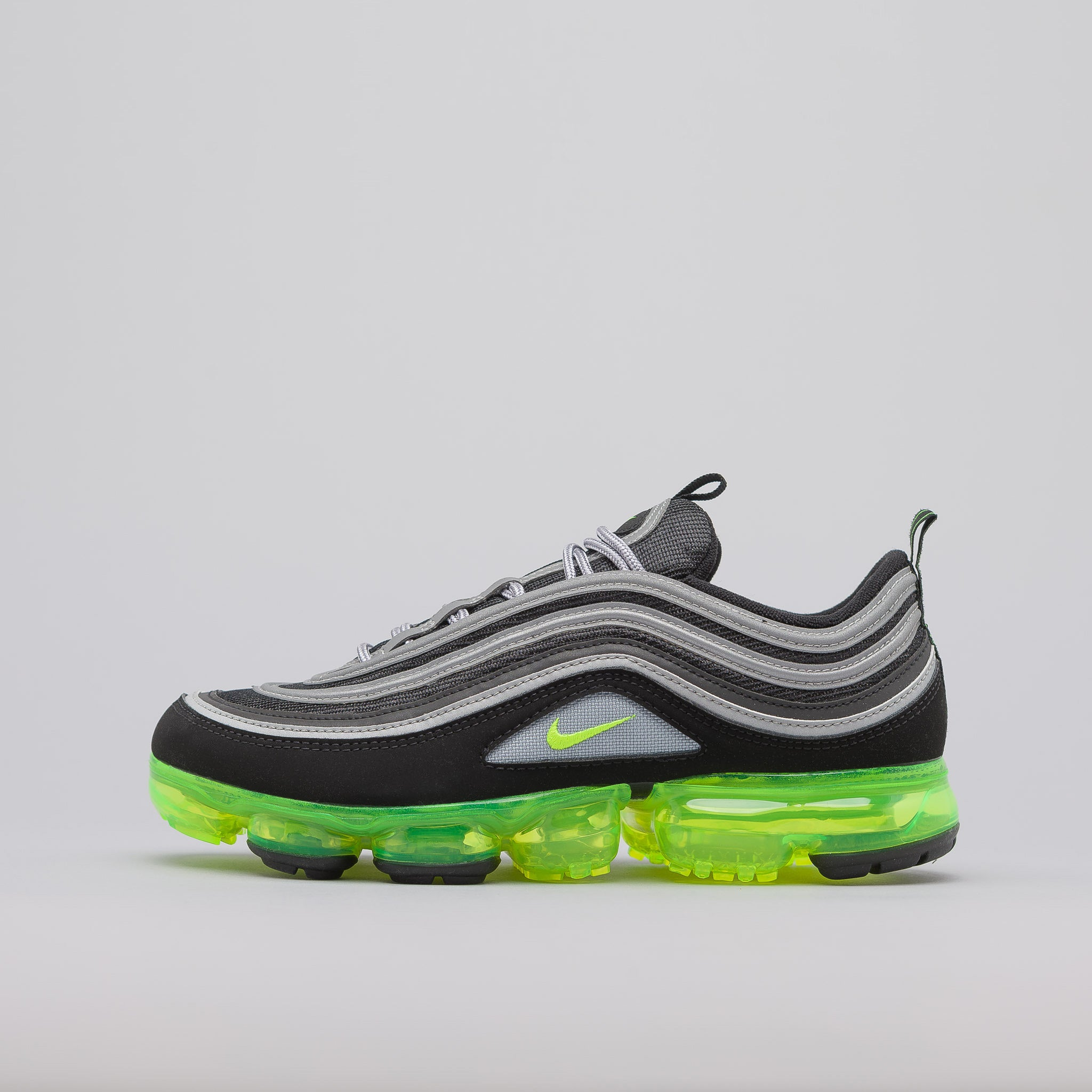 Air Vapormax 97 in Black/Volt Green. Nike