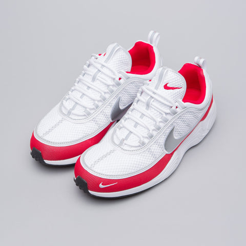 Nike Air Zoom Spiridon '16 in White/Silver/Red - Notre