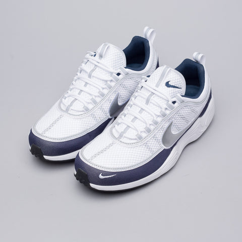 Nike Air Zoom Spiridon '16 in White/Silver/Navy - Notre