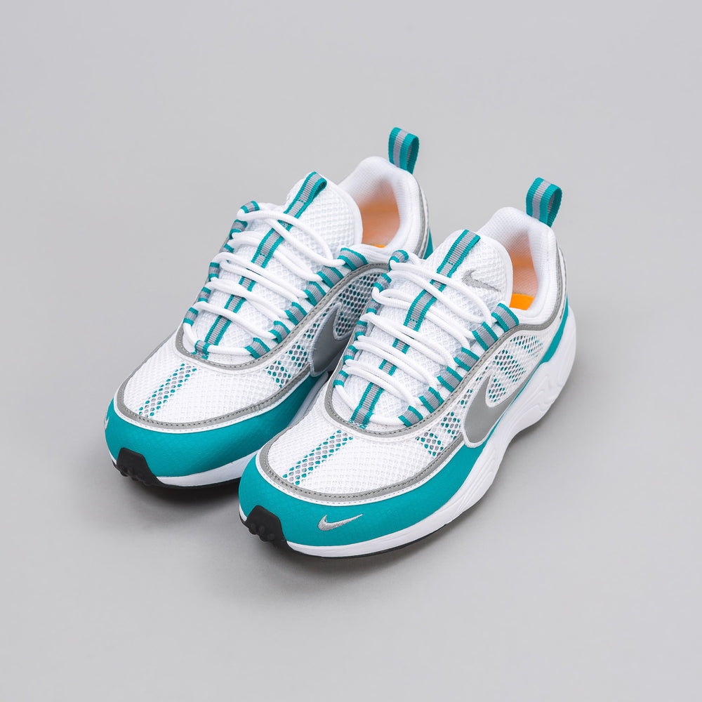 Nike NikeLab Air Zoom Spiridon in White/Silver/Turbo Green - Notre