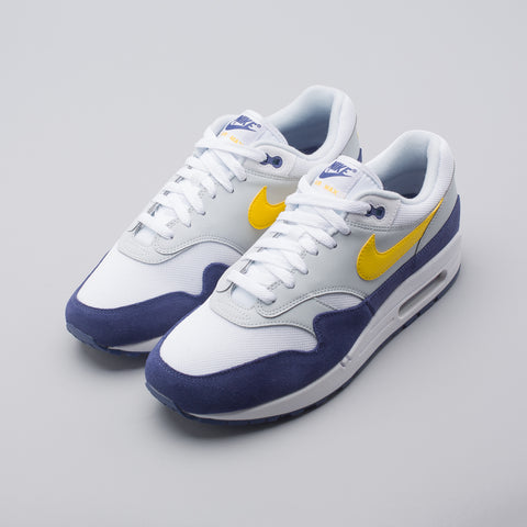Nike Air Max 1 in White/Yellow/Blue - Notre
