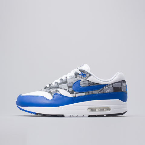 Nike x atmos 'We Love Nike' Air Max 1  in White/Royal - Notre