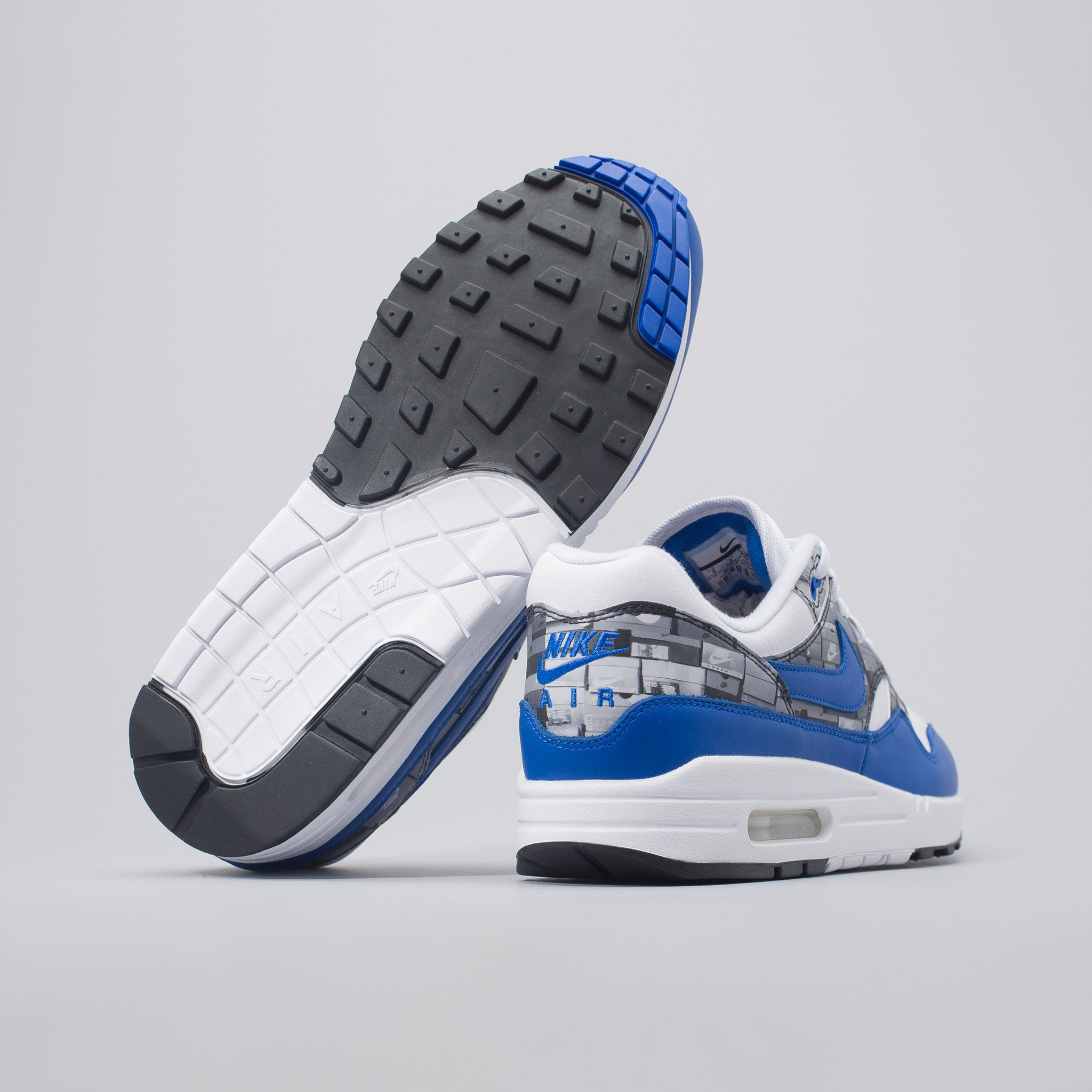 x atmos 'We Love Nike' Air Max 1  in White/Royal