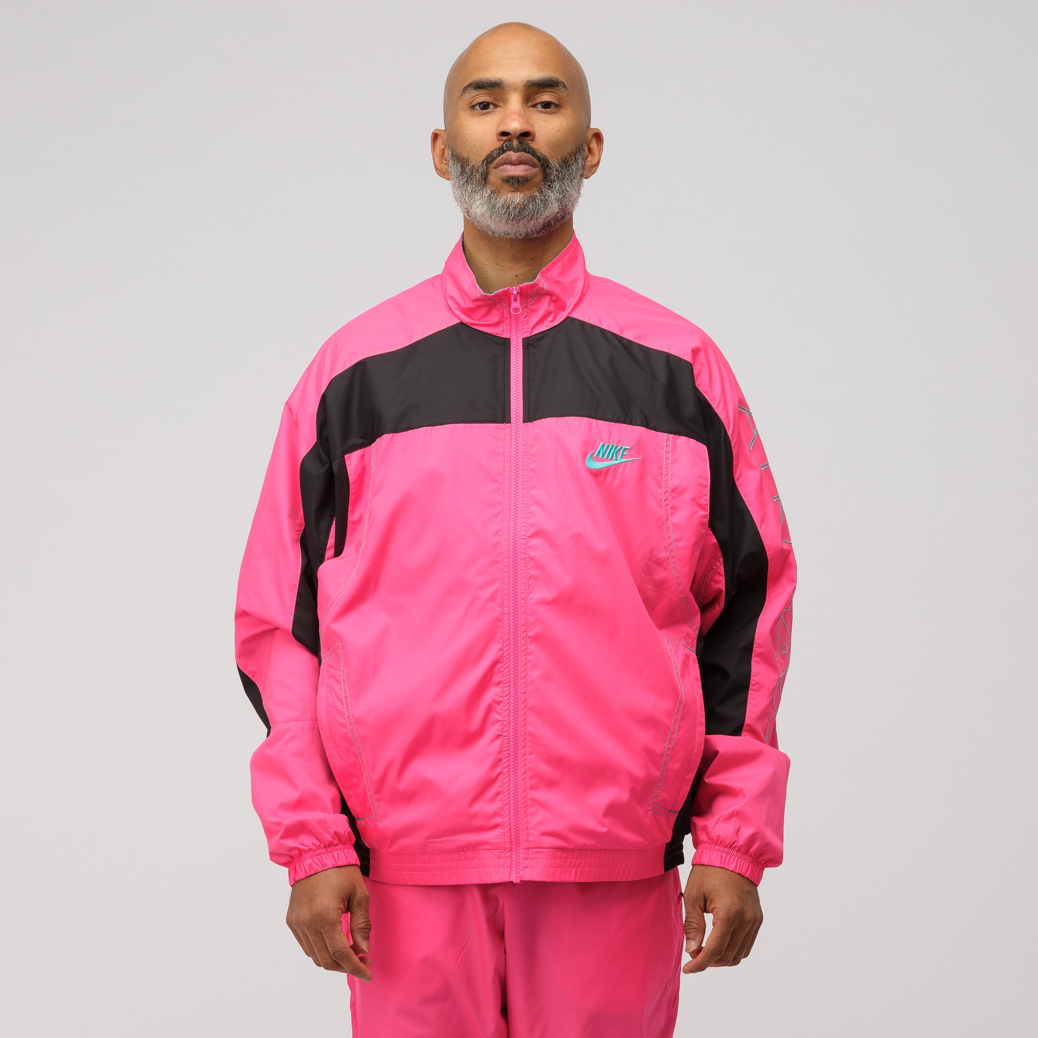 x Atmos Track Jacket in Pink/Black