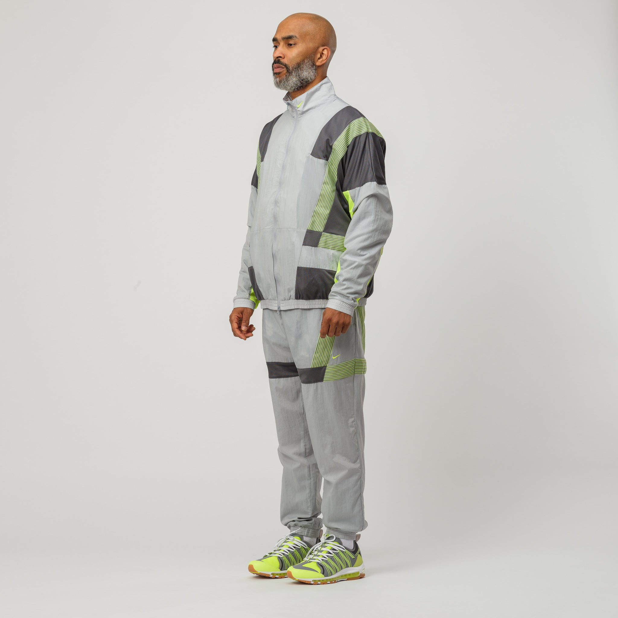 x CLOT Track Suit in Grey/Volt