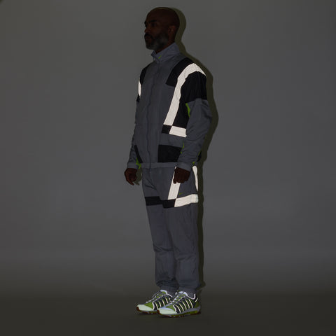 Nike x CLOT Track Suit in Grey/Volt - Notre