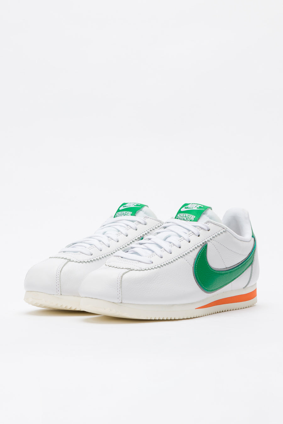 Nike Stranger Things Hawkins High Cortez in White/Pine Green/Clay - Notre