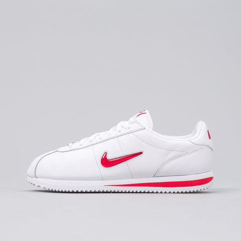 Nike Tier Zero Cortez Jewel QS in White/University Red - Notre