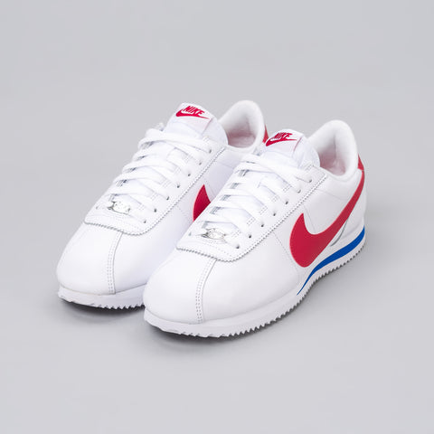 Nike Cortez Basic Leather OG in Red/White/Blue - Notre