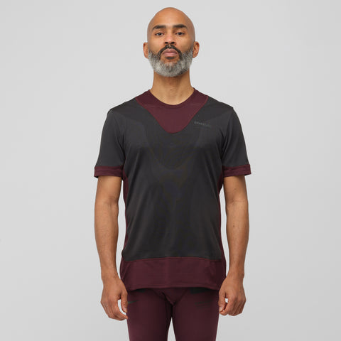 NikeLab Gyakusou Short Sleeve Top in Deep Burgundy - Notre