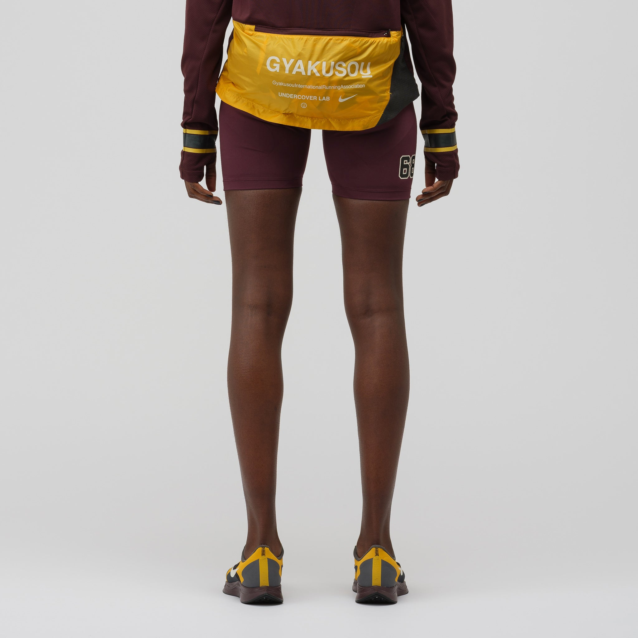 Women's Gyakusou TechKnit Shorts in Burgundy Grey