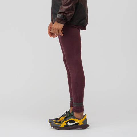 NikeLab Gyakusou TechKnit Tights in Deep Burgundy/Off Noir - Notre