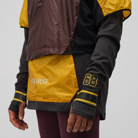 NikeLab Gyakusou Transform Jacket in Gold Dart/Deep Burgundy - Notre