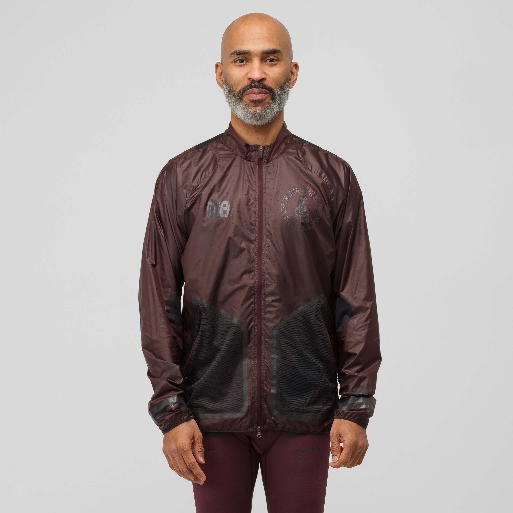 Gyakusou Jacket in Deep Burgundy/Dark Smoke