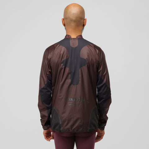NikeLab Gyakusou Jacket in Deep Burgundy/Dark Smoke - Notre