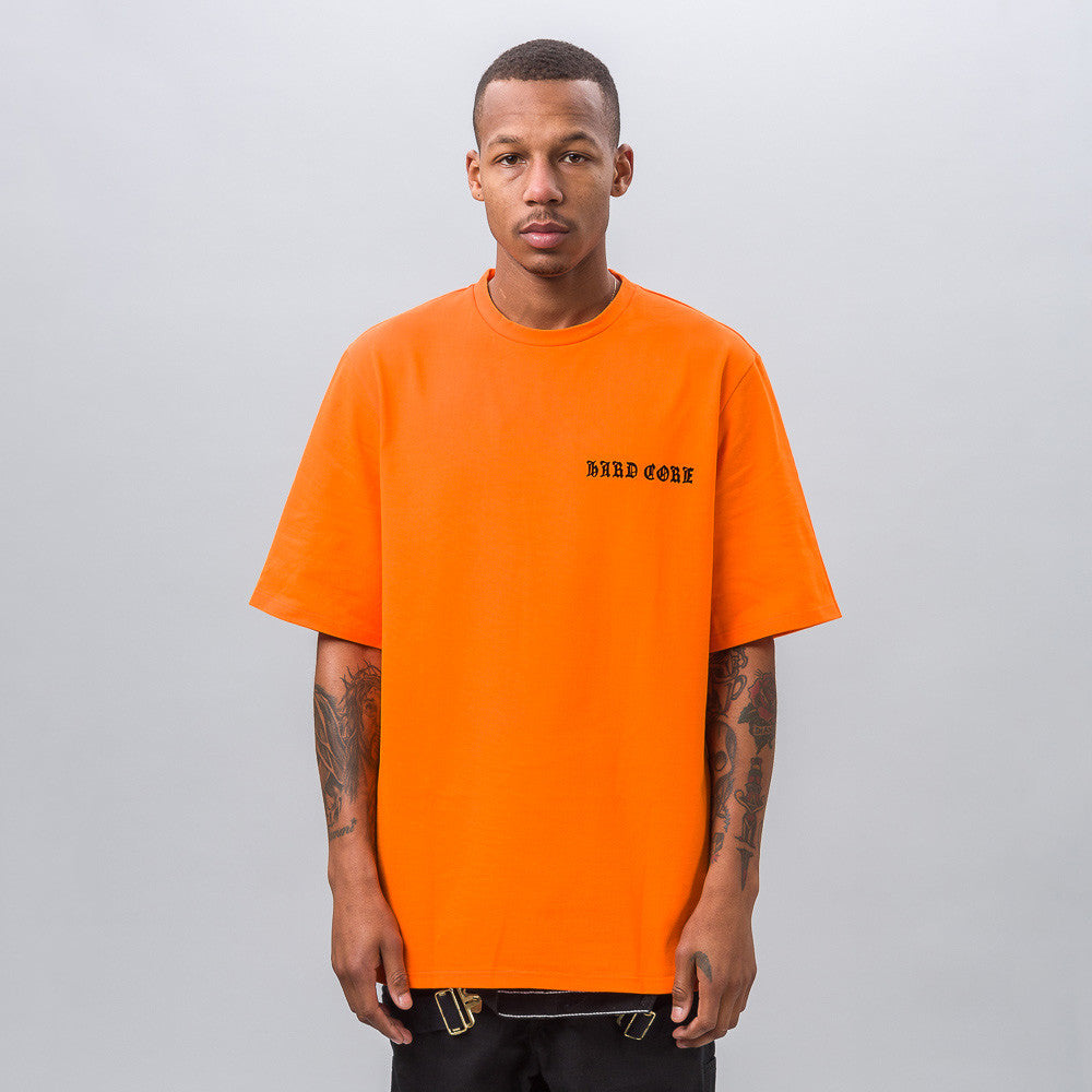 MISBHV Hard Core Muscle T-SHirt in Orange