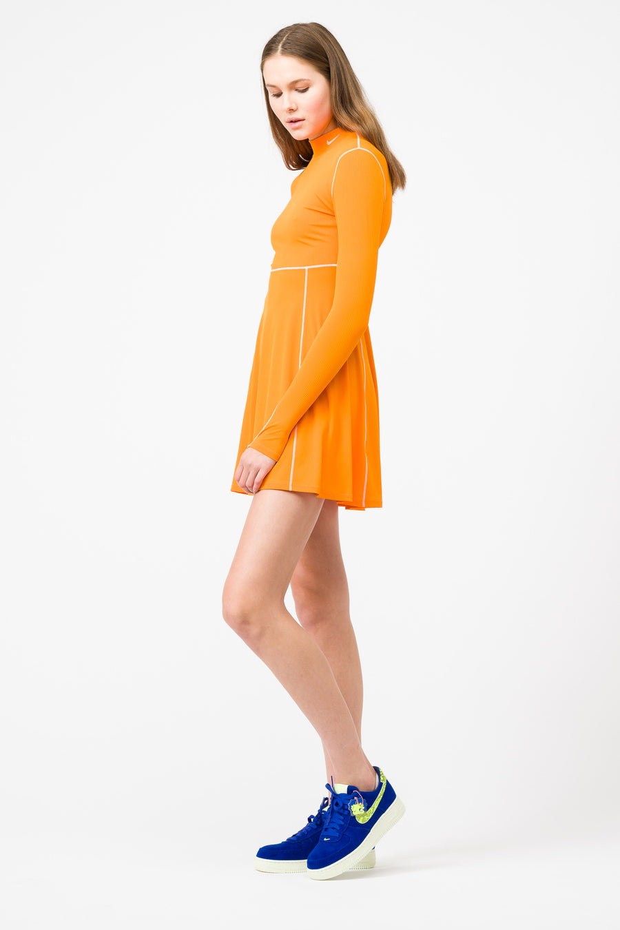 Nike Olivia Kim Long Sleeve Tennis Dress in Bright Ceramic - Notre
