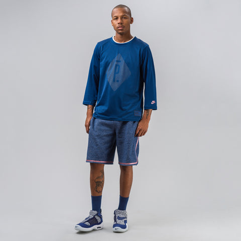 Nike Nikelab x Pigalle 7/8 Long Sleeve Top in Coastal Blue - Notre