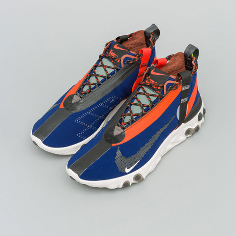 Nike React Mid WR ISPA in Blue Void/Orange - Notre