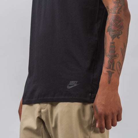 Nike Sportswear Bonded Short Sleeve Top in Black - Notre