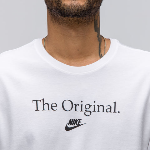 Nike Sportswear Concept Verbiage Tee in White - Notre