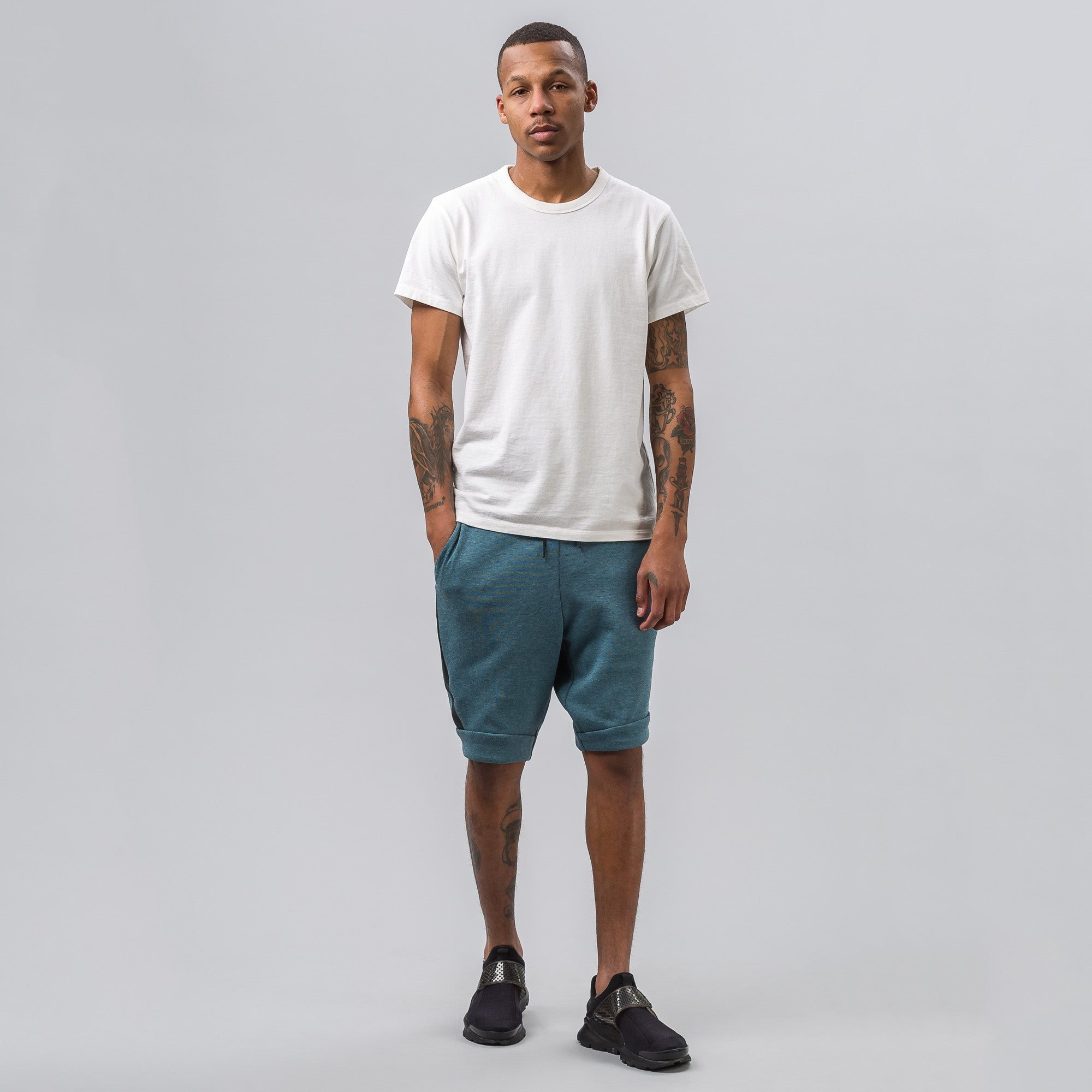 Tech Fleece Short in Smokey Blue