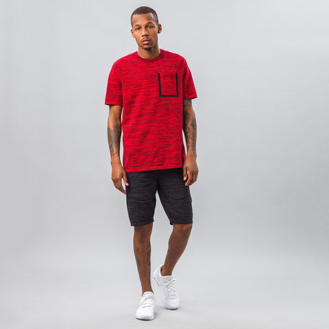 Nike Tech Knit Pocket Tee in Crimson - Notre