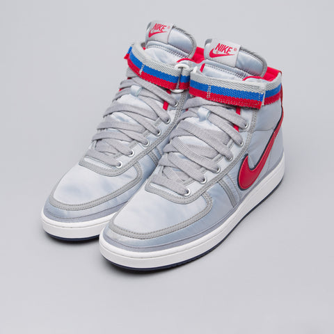 Nike Vandal High Supreme QS in Metallic Silver/Desert Red - Notre