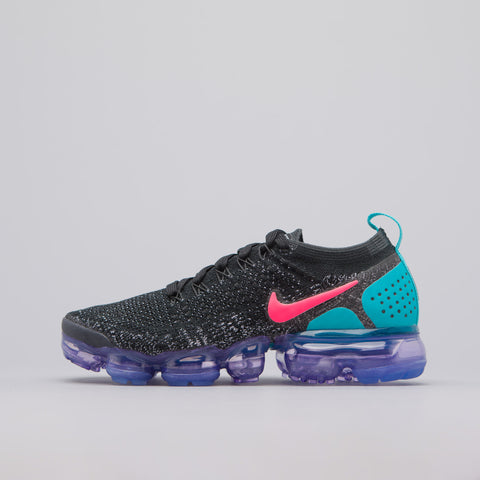 Nike Women's Air Vapormax Flyknit 2 in Black/Hot Punch/Cactus - Notre