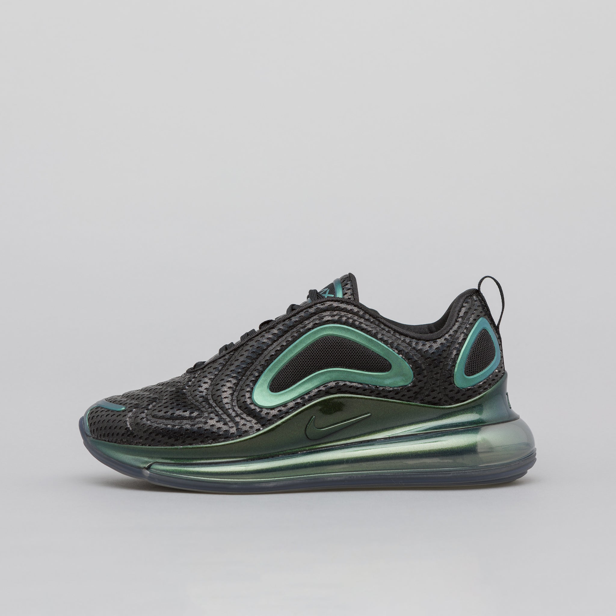 Women's Air Max 720 in Black/Metallic Silver