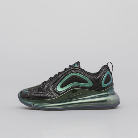 Nike Women's Air Max 720 in Black/Metallic Silver - Notre