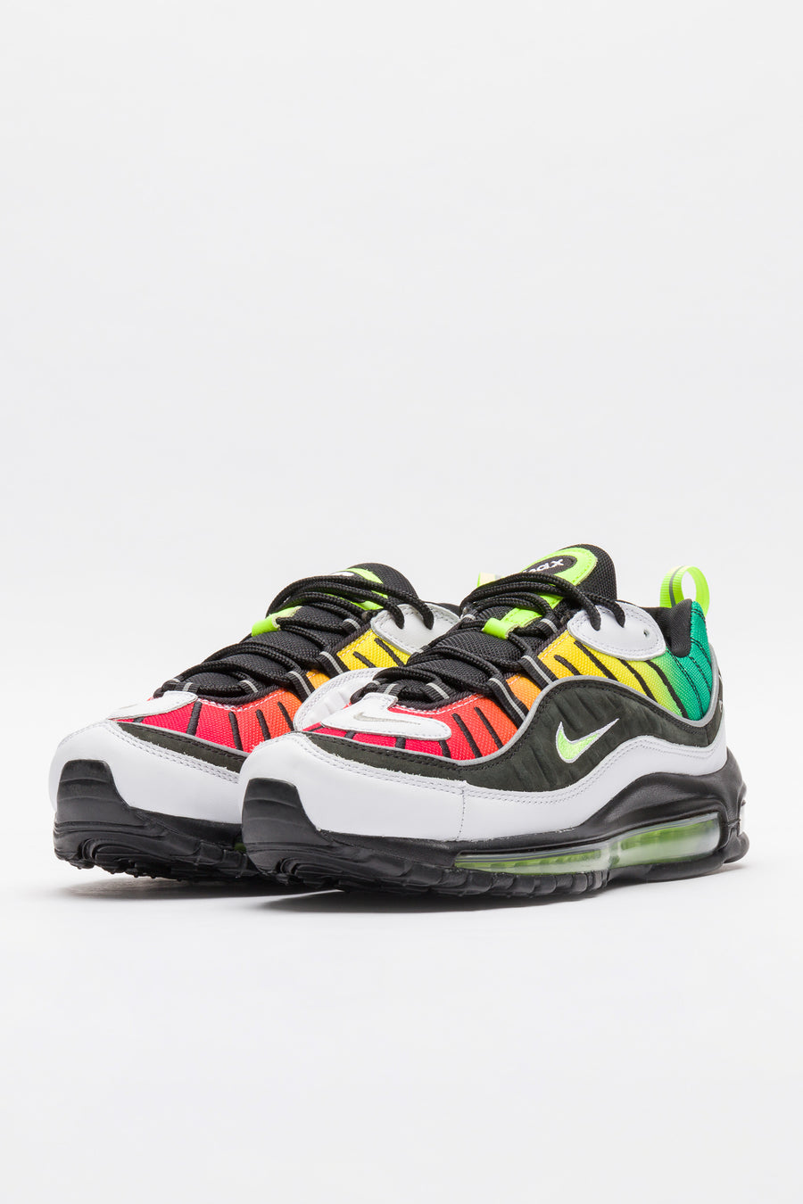 Nike Olivia Kim Air Max 98 in Black/White/Dynamic Yellow - Notre