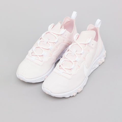 Nike Women's Nike React Element 55 in Pale Pink/White - Notre