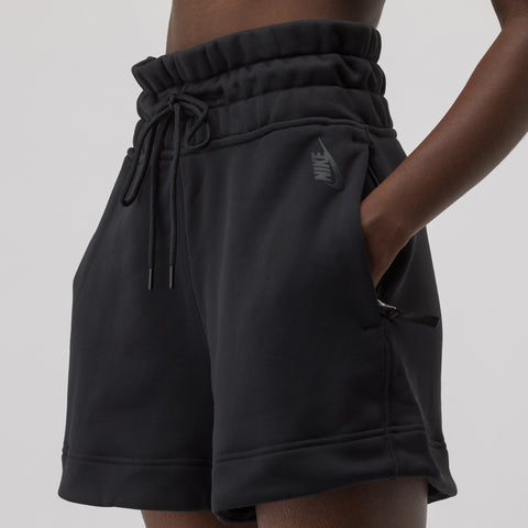 NikeLab Women's Fleece Shorts in Black - Notre