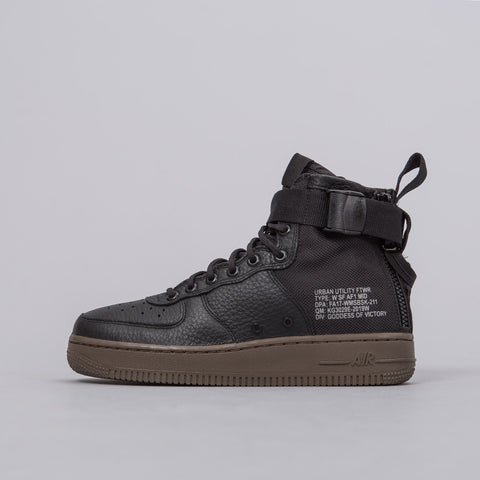 Nike Women's Special Field Air Force 1 Mid in Black/Dark Hazel - Notre