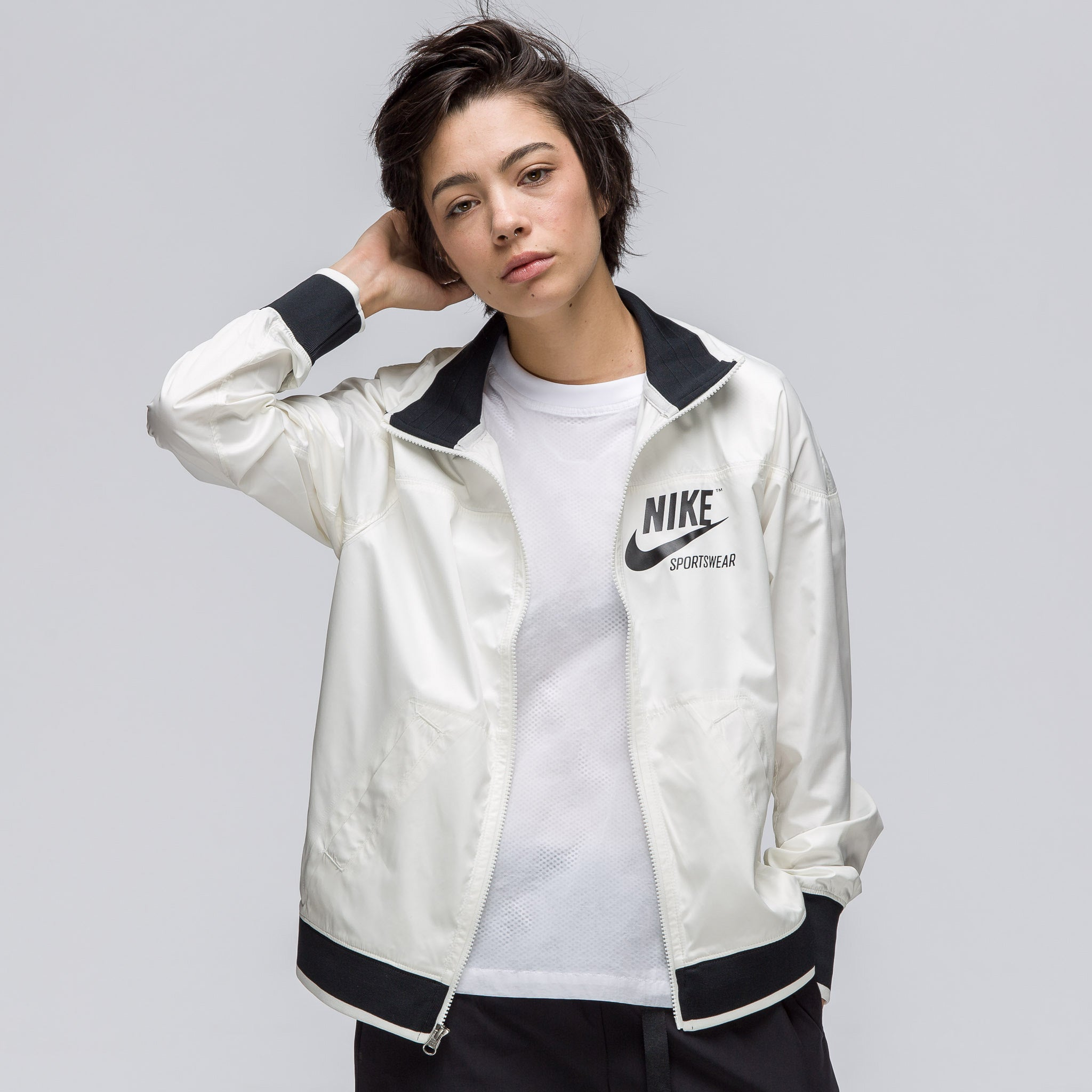 Women's Sportswear Archive1 Full Zip Jacket in Sail/Black
