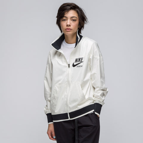 Nike Women's Sportswear Archive1 Full Zip Jacket in Sail/Black - Notre