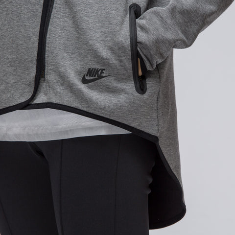 Nike Women's Sportswear Tech Fleece Cape in Carbon Heather - Notre