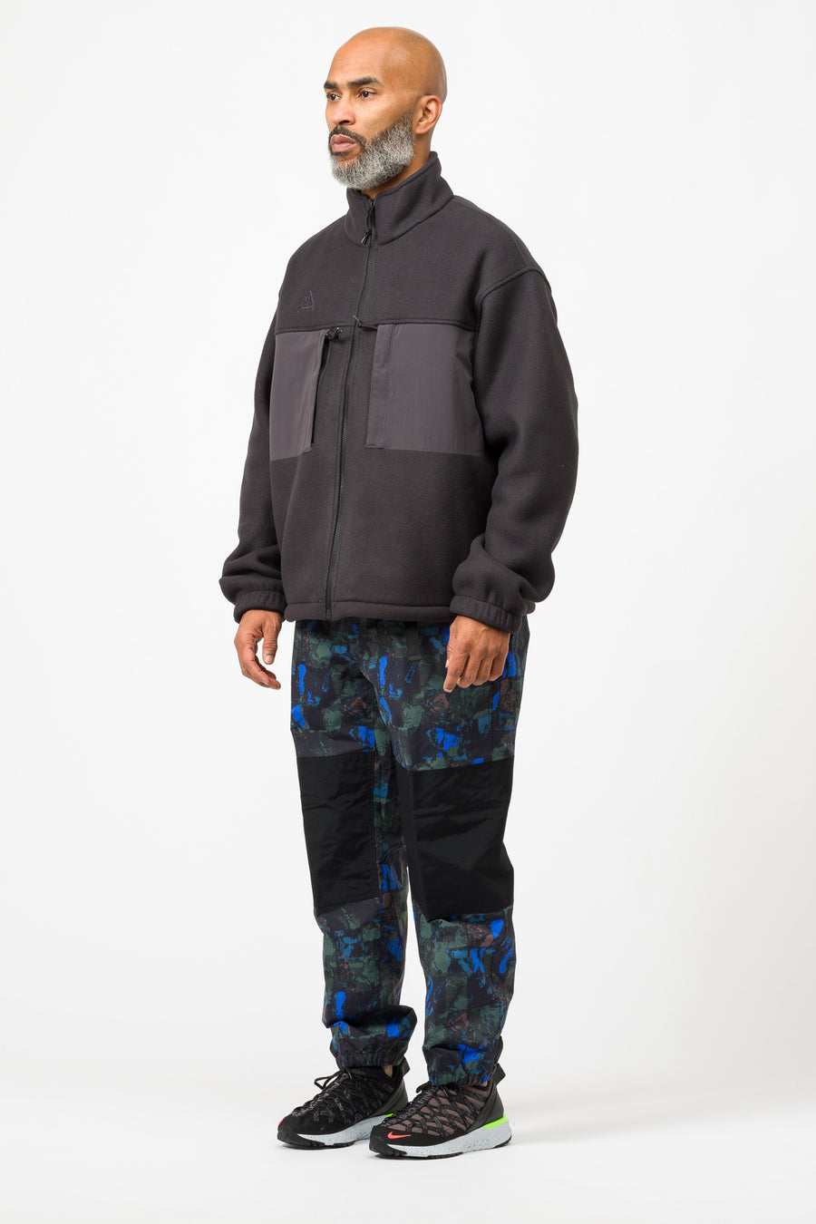 Nike ACG Fleece Jacket in Black/Anthracite - Notre