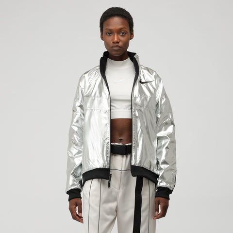 Nike x Ambush Women's Reversible Jacket in Black/Silver Foil - Notre