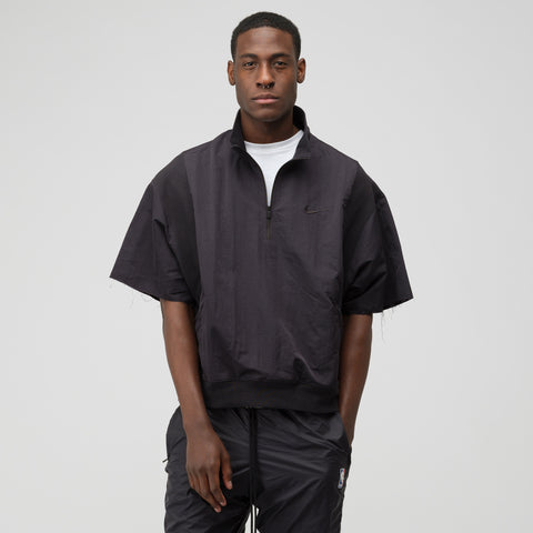 Nike x Fear of God 1/2 Zip Short Sleeve Jacket in Black - Notre