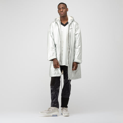 Nike x Fear of God Parka in Metallic Silver - Notre