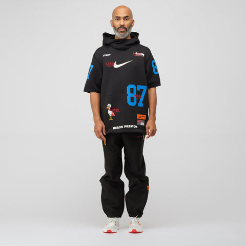 Nike x Heron Preston Short Sleeve Hoodie in Black - Notre