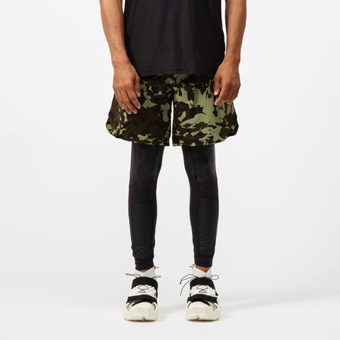 Nike MMW 2-in-1 Shorts in Black/Green - Notre