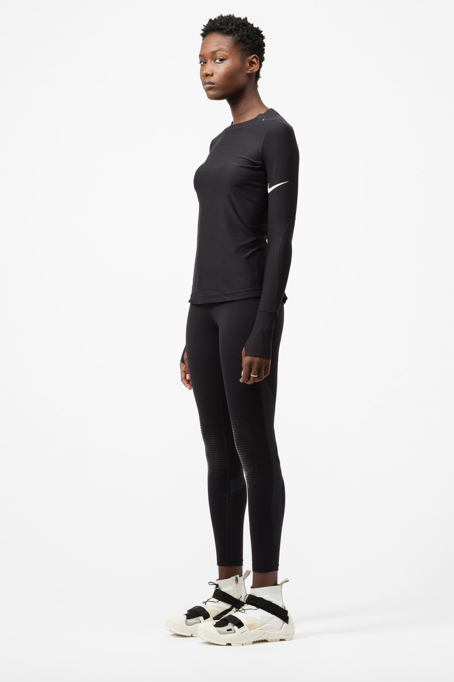 Nike MMW Long-Sleeve Top in Black - Notre