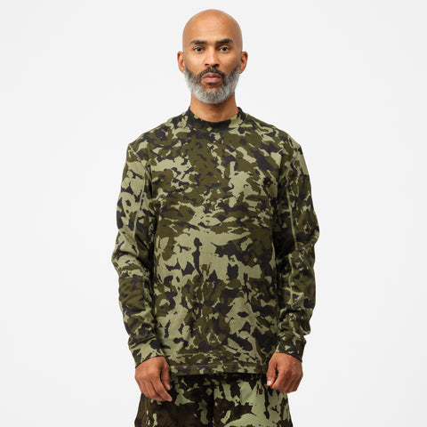 Nike MMW Printed Long-Sleeve Top in Legion Green - Notre