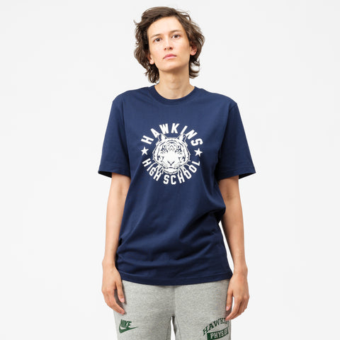 Nike Stranger Things Hawkins High T-Shirt in Navy/Sail - Notre