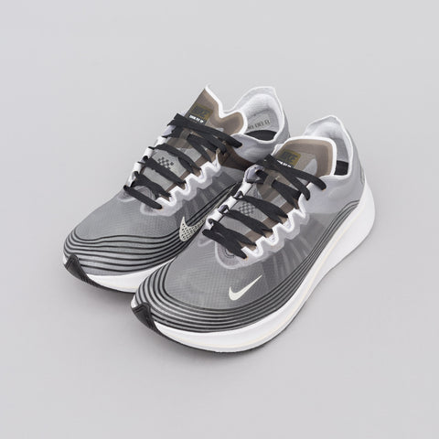 Nike Zoom Fly SP in Black/Light Bone - Notre